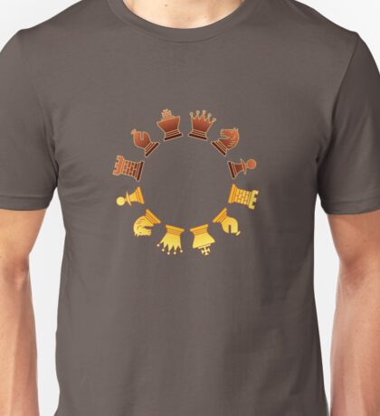 Chess - Brown and yellow circle T-Shirt