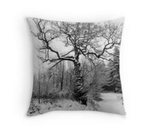 The Tree in Winter  Throw Pillow