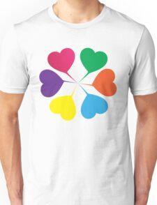 (Girls) Heart Flower Unisex T-Shirt