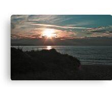 Peach Sunset Canvas Print
