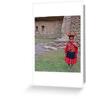 Quechua girl Greeting Card
