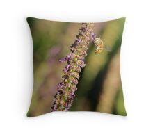 Purple pollen Throw Pillow