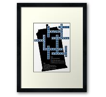 Doctor Who Cross Word Puzzle Framed Print