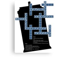 Doctor Who Cross Word Puzzle Canvas Print