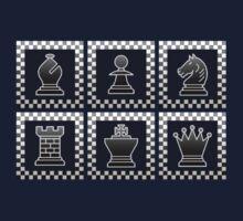 Chess - Black borders block Kids Tee