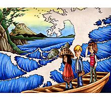 Sailing Through Hokusai Photographic Print