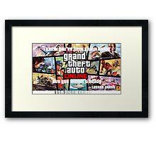 GTA Online heists Framed Print
