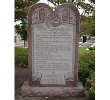 The Ten Commandments Photographic Print
