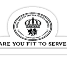 ARE YOU FIT TO SERVE? Sticker