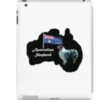 Australian shepherd with map of Australia iPad Case/Skin