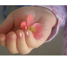 gentle touch Photographic Print