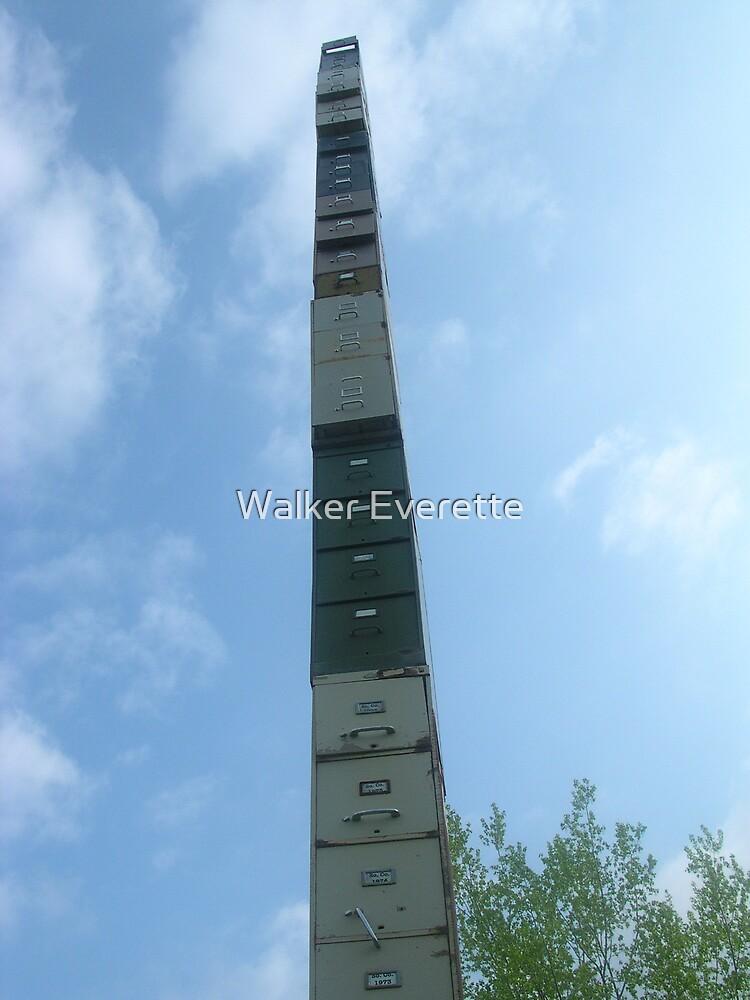 World's Tallest Filing Cabinet  by Walker Everette