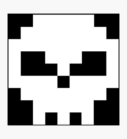 Pirate Pixel Skull  Photographic Print