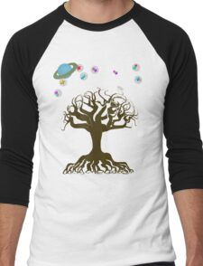 The Tree and The Magical Sky Men's Baseball ¾ T-Shirt