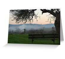 Lonley bench Greeting Card