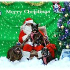 Happy Staffy Christmas! by Vicki Childs