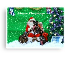 Happy Staffy Christmas! Canvas Print