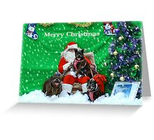 Happy Staffy Christmas! Greeting Card