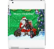 Happy Staffy Christmas! iPad Case/Skin