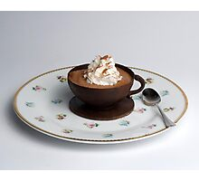 Chocolate cup & Saucer  Photographic Print