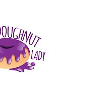 Crazy Doughnut lady in purple icing by jazzydevil