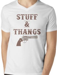 Stuff & Thangs Mens V-Neck T-Shirt
