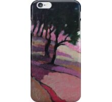 Landscape with trees iPhone Case/Skin