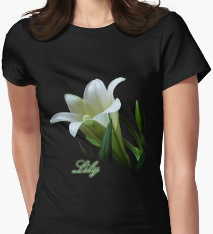 Easter Lily Womens Fitted T-Shirt