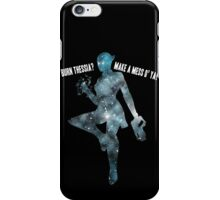 Mass Effect Silhouettes, Liara - Burn Thessia? Make a Mess o' Ya! iPhone Case/Skin