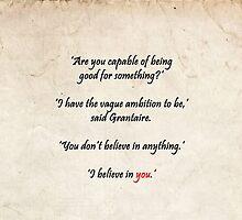 I believe in you by Ispeakfandom