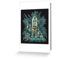 Atomic Space Ape Greeting Card