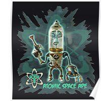 Atomic Space Ape Poster