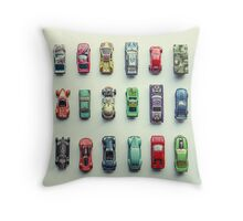 Toy Car Collection Throw Pillow