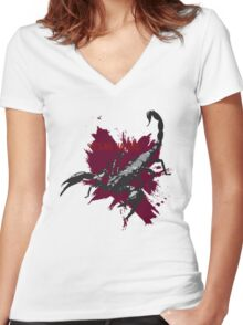 Scorpions Nature Women's Fitted V-Neck T-Shirt
