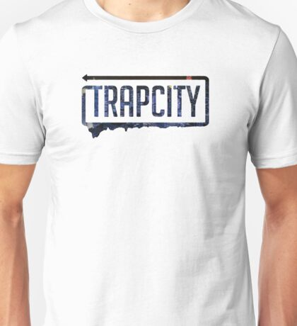Trap city with background Unisex T-Shirt