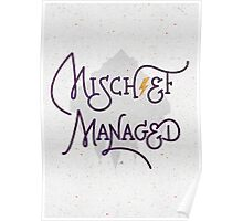 """Harry Potter """"Mischief Managed"""" Poster"""
