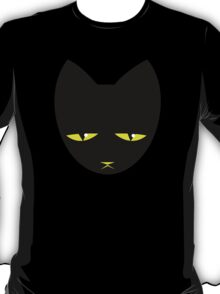 Unimpressed cat! angry black cat cross T-Shirt
