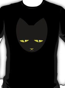 Unimpressed cat! angry black cat cross T-Shirt