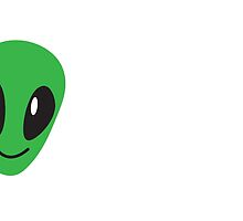 Alien green man face smiling by jazzydevil
