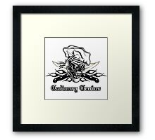 Chef Skull 5: Culinary Genius 3 black flames Framed Print