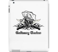 Chef Skull 5: Culinary Genius 3 black flames iPad Case/Skin