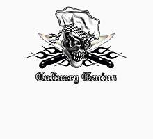 Chef Skull 5: Culinary Genius 3 black flames Unisex T-Shirt