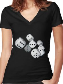 On a roll Women's Fitted V-Neck T-Shirt