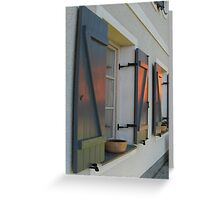SUNSET HOUSE WINDOWS Greeting Card
