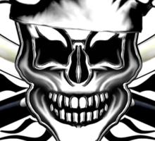 Chef Skull 6: Culinary Genius 3 black flames Sticker