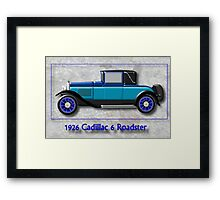 1926 Cadillac 6 Roadster Framed Print
