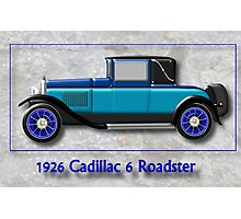 1926 Cadillac 6 Roadster Photographic Print