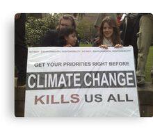 climate change? Canvas Print