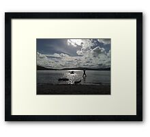 Lake of Happy-ness Framed Print