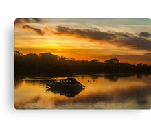 Sunset River Scenic Canvas Print